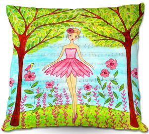 Decorative Outdoor Patio Pillow Cushion | Sascalia - Pink Ballerina