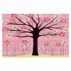 Decorative Floor Coverings | Sascalia Pink Bird Tree