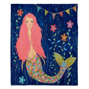 Decorative Fleece Throw Blankets | Sascalia - Pink Mermaid