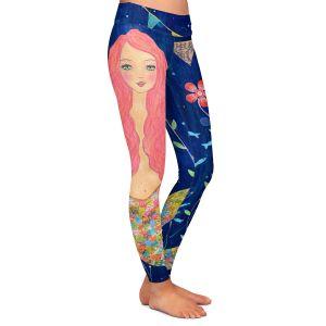 Casual Comfortable Leggings | Sascalia Pink Mermaid