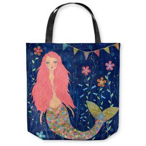 Unique Shoulder Bag Tote Bags | Sascalia Pink Mermaid