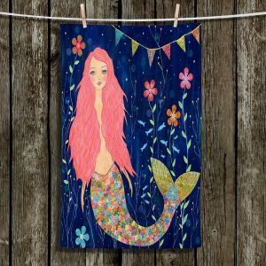 Unique Hanging Tea Towels | Sascalia - Pink Mermaid | Make Believe Childlike