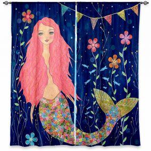 Decorative Window Treatments | Sascalia Pink Mermaid