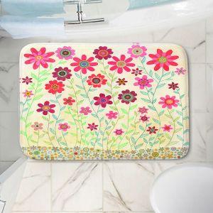 Decorative Bathroom Mats | Sascalia - Pink Retro Flowers