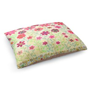 Decorative Dog Pet Beds | Sascalia's Pink Retro Flowers