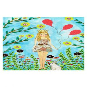 Decorative Floor Coverings   Sascalia - Princess   Little Girl Childlike Animals Princess Flowers
