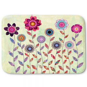 Unique Bath Mat Small from DiaNoche Designs by Sascalia - Purple Fowers