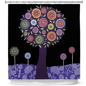 Premium Shower Curtains | Sascalia Purple Tree