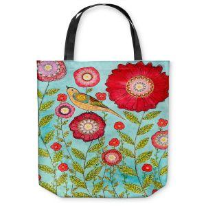 Unique Shoulder Bag Tote Bags | Sascalia Red Flowers