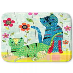 Decorative Bathroom Mats | Sascalia - Retro Cats