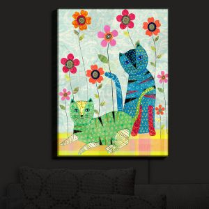 Nightlight Sconce Canvas Light | Sascalia - Retro Cats