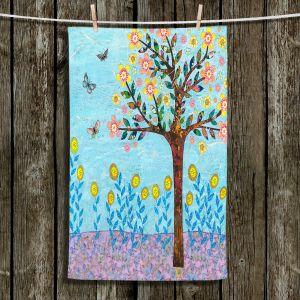 Unique Bathroom Towels   Sascalia - Spring Tree   Nature flower tree field