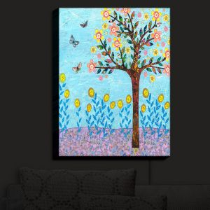 Nightlight Sconce Canvas Light | Sascalia - Spring Tree