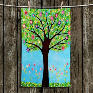Unique Hanging Tea Towels | Sascalia - Sunlight | Trees Flowers