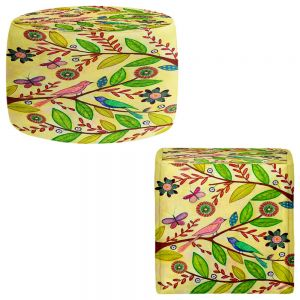 Round and Square Ottoman Foot Stools   Sascalia - Sunny Day
