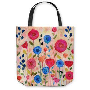 Unique Shoulder Bag Tote Bags | Sascalia - Sway | Florals Boho Chic