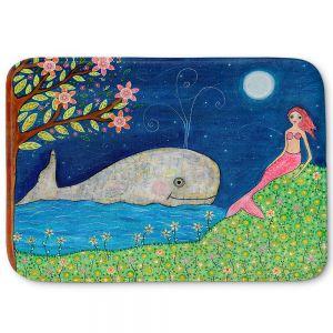 Decorative Bathroom Mats | Sascalia - Whale Mermaid