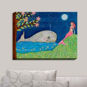 Decorative Canvas Wall Art | Sascalia - Whale Mermaid