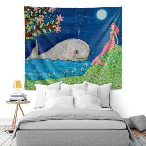 Artistic Wall Tapestry | Sascalia Whale Mermaid