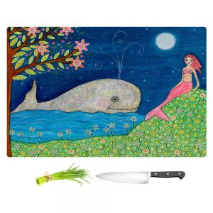 Artistic Kitchen Bar Cutting Boards | Sascalia - Whale Mermaid
