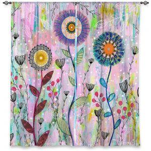 Decorative Window Treatments   Sascalia - Whisper   Florals Boho Chic