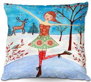 Throw Pillows Decorative Artistic | Sascalia Winter Skater