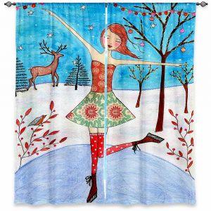 Decorative Window Treatments   Sascalia Winter Skater