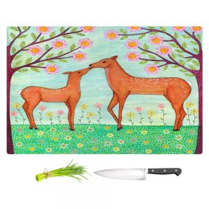 Artistic Kitchen Bar Cutting Boards | Sascalia - Woodland Deer