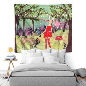 Artistic Wall Tapestry | Sascalia - Woodland Friend