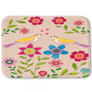 Decorative Bathroom Mats | Sascalia - You Are My Sunshine | Nature bird flower