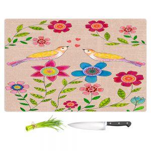 Artistic Kitchen Bar Cutting Boards | Sascalia - You Are My Sunshine | Nature bird flower