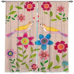 Decorative Window Treatments | Sascalia - You Are My Sunshine | Nature bird flower