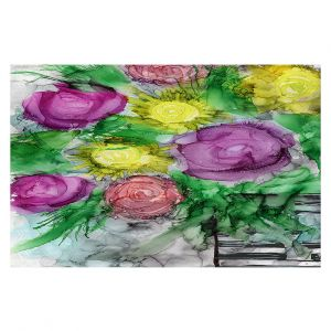 Decorative Floor Covering Mats | Shay Livenspargar - Be You Tiful | Floral Flowers Roses