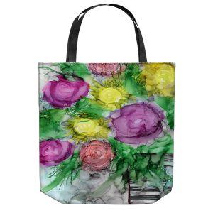 Unique Shoulder Bag Tote Bags | Shay Livenspargar - Be You Tiful | Floral Flowers Roses