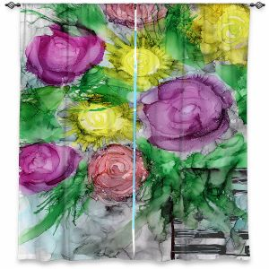 Decorative Window Treatments | Shay Livenspargar - Be You Tiful | Floral Flowers Roses