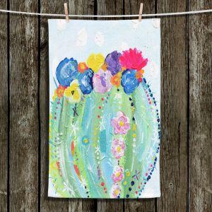 Unique Hanging Tea Towels   Shay Livenspargar - Cacti Bloom   Cactus Blooming