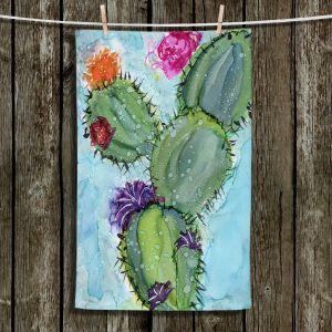 Unique Hanging Tea Towels   Shay Livenspargar - Cactus Love   Cactus Blooming