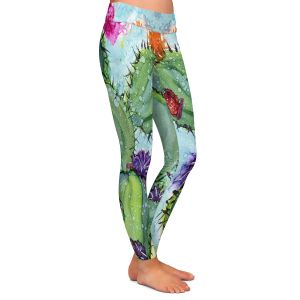 Casual Comfortable Leggings | Shay Livenspargar - Cactus Love | Cactus Blooming