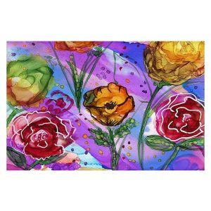 Decorative Floor Covering Mats | Shay Livenspargar - Camargue | Nature Flowers