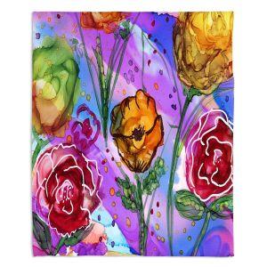 Decorative Fleece Throw Blankets | Shay Livenspargar - Camargue | Nature Flowers