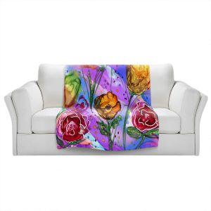 Artistic Sherpa Pile Blankets | Shay Livenspargar - Camargue | Nature Flowers