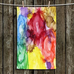 Unique Bathroom Towels | Shay Livenspargar - Community Growth | Nature Abstract Flowers