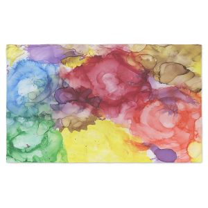 Artistic Pashmina Scarf | Shay Livenspargar - Community Growth | Nature Abstract Flowers