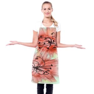Artistic Bakers Aprons   Shay Livenspargar - Coral Florals   Nature Abstract Flowers