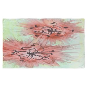 Artistic Pashmina Scarf   Shay Livenspargar - Coral Florals   Nature Abstract Flowers