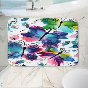 Decorative Bathroom Mats | Shay Livenspargar - Dancing Butterflies | Buterfly pattern abstract