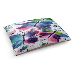 Decorative Dog Pet Beds | Shay Livenspargar - Dancing Butterflies | Buterfly pattern abstract