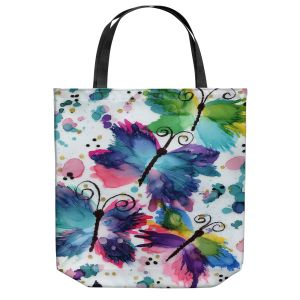 Unique Shoulder Bag Tote Bags | Shay Livenspargar - Dancing Butterflies | Buterfly pattern abstract