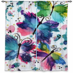 Decorative Window Treatments | Shay Livenspargar - Dancing Butterflies | Buterfly pattern abstract
