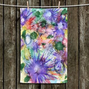 Unique Hanging Tea Towels | Shay Livenspargar - Dashing Decade | Abstract Flowers Nature